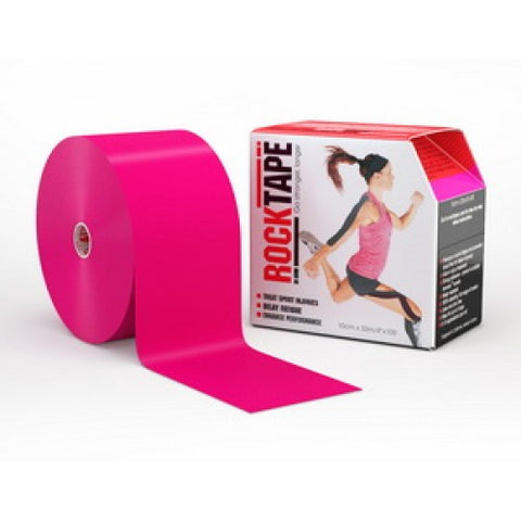 "RockTape Active-Recovery Series Tape  (W10cm x L32m) 4"" Big Daddy - Hot Pink"