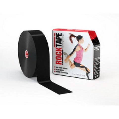 RockTape Active-Recovery Series Tape  (W5cm x L32m) Bulk - Black