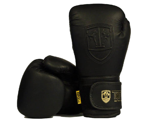Topdog Classic Black Matte Muay Thai Gloves - MMAoutfit