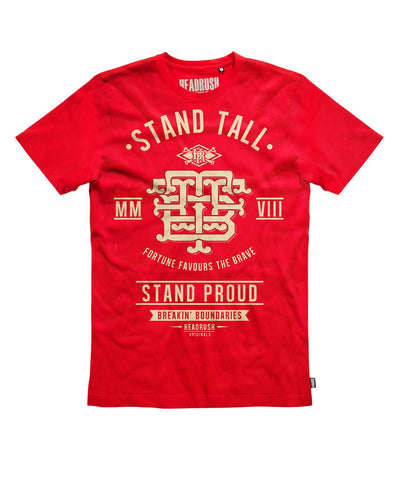 HEADRUSH STAND TALL MONOGRAM SHIRT RED - MMAoutfit - 1