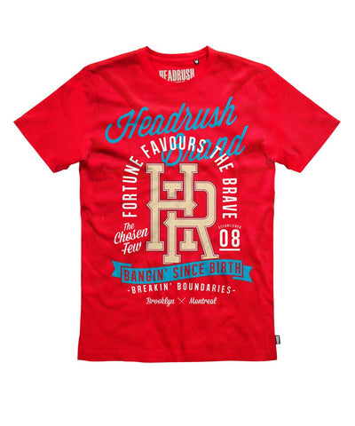 HEADRUSH BANGIN' SINCE BIRTH SHIRT RED - MMAoutfit - 1