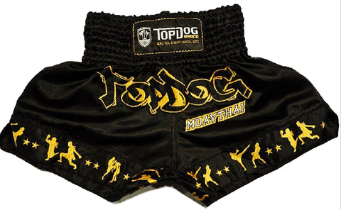 Topdog Muay Thai shorts in Classic Black & Gold - MMAoutfit
