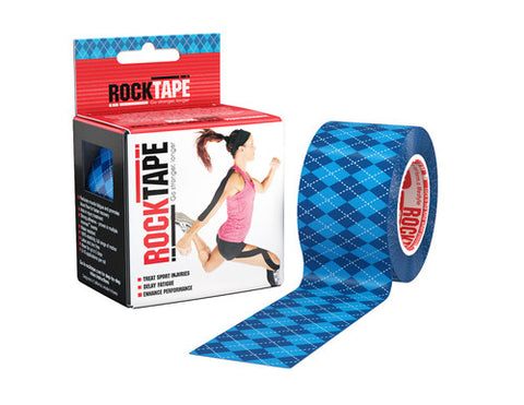 RockTape Active-Recovery Series Tape 5M - Blue Argyle - MMAoutfit - 1