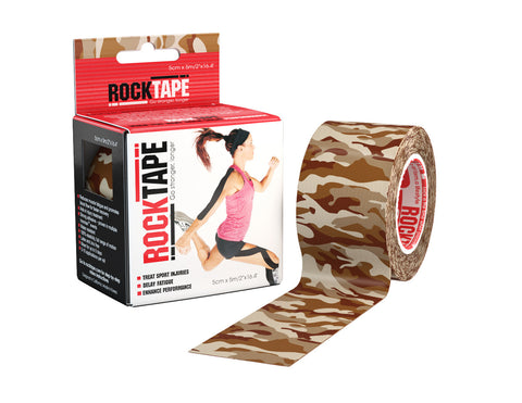 RockTape Active-Recovery Series Tape 5M - Brown Camouflage - MMAoutfit - 1