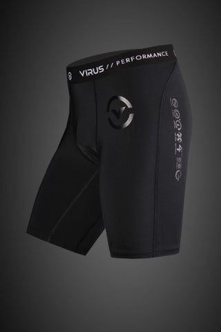 VIRUS MEN'S STAY COOL PERFORMANCE COOL JADE COMPRESSION SHORT - BLACK - MMAoutfit - 1