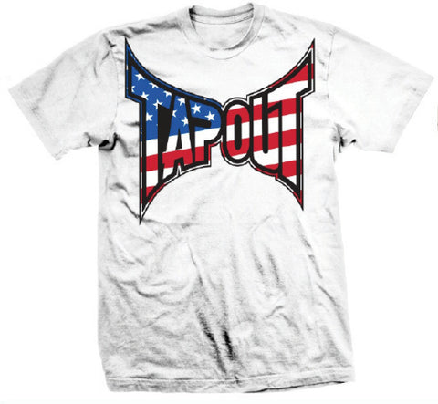 TAPOUT PATRIOT MEN SHIRT - WHITE - MMAoutfit
