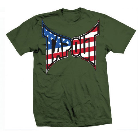 TAPOUT PATRIOT MEN SHIRT - GREEN - MMAoutfit