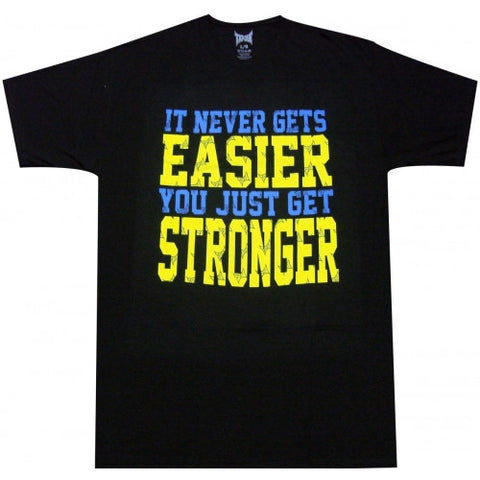 TAPOUT NEVER GETS EASIER SHIRT - BLACK - MMAoutfit
