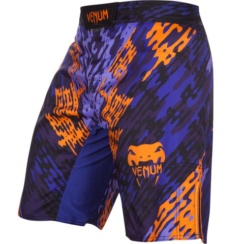 VENUM NEO CAMO FIGHTSHORTS - BLUE/ORANGE - MMAoutfit - 1