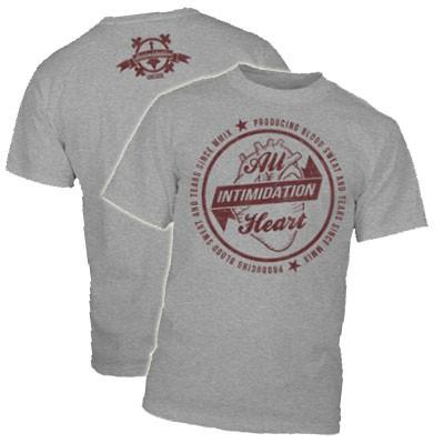 INTIMIDATION ALL HEART SHIRT - GREY