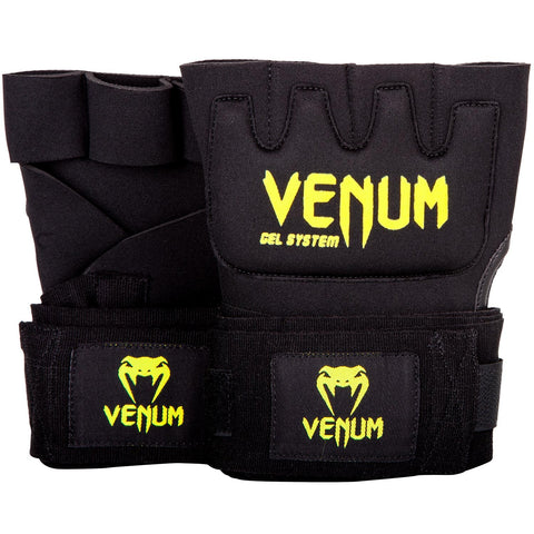 "VENUM ""KONTACT"" GEL GLOVE WRAPS - BLACK/NEO YELLOW"