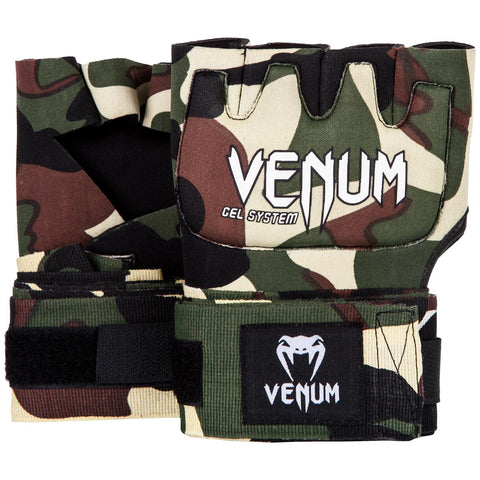 "VENUM ""KONTACT"" GEL GLOVE WRAPS - FOREST CAMO"