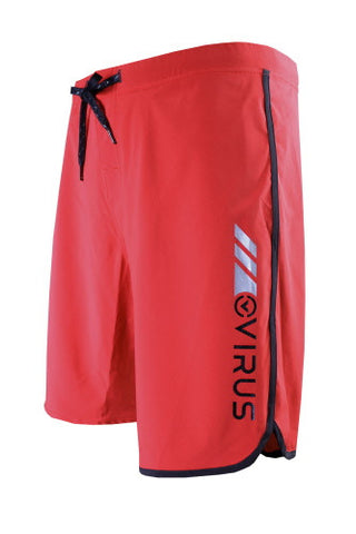 VIRUS AIRFLEX 4-WAY STRETCH TRAINING SHORTS - RED WITH BLACK - MMAoutfit - 1