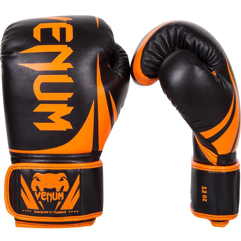 VENUM CHALLENGER 2.0 BOXING GLOVES - NEO ORANGE/BLACK