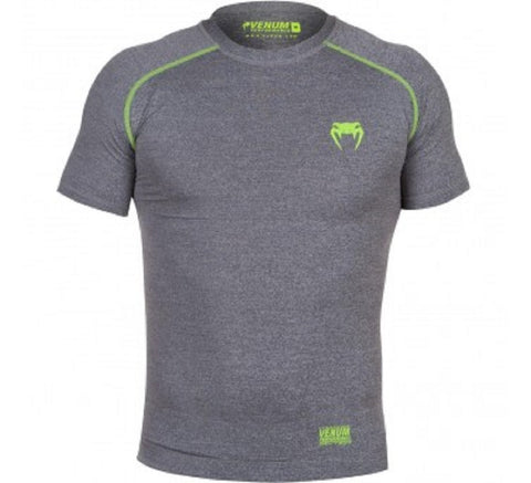 VENUM CONTENDER 2.0 COMPRESSION T-SHIRT - SHORT SLEEVES - HEATHER GREY - MMAoutfit - 1