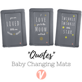 Our baby changing mats are totally on trend!