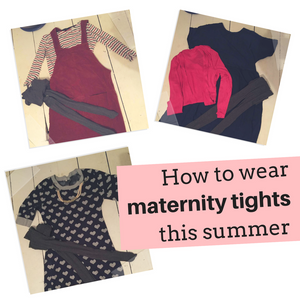 How to wear maternity tights this summer