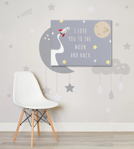 Original Nursery Artwork Printed Canvas