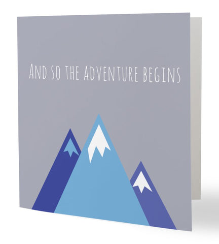 """And so the adventure begins"" Greetings Card"