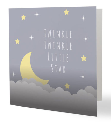"""Twinkle Twinkle Little Star"" Greetings Card"