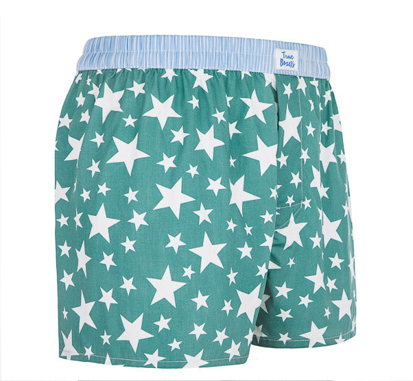 Starboy - green Boxer Short with stars - True Boxers