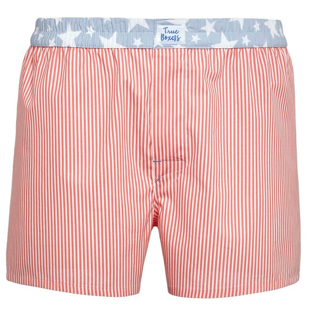 Light my Fire -  red stripes with stars Boxer Short - True Boxers