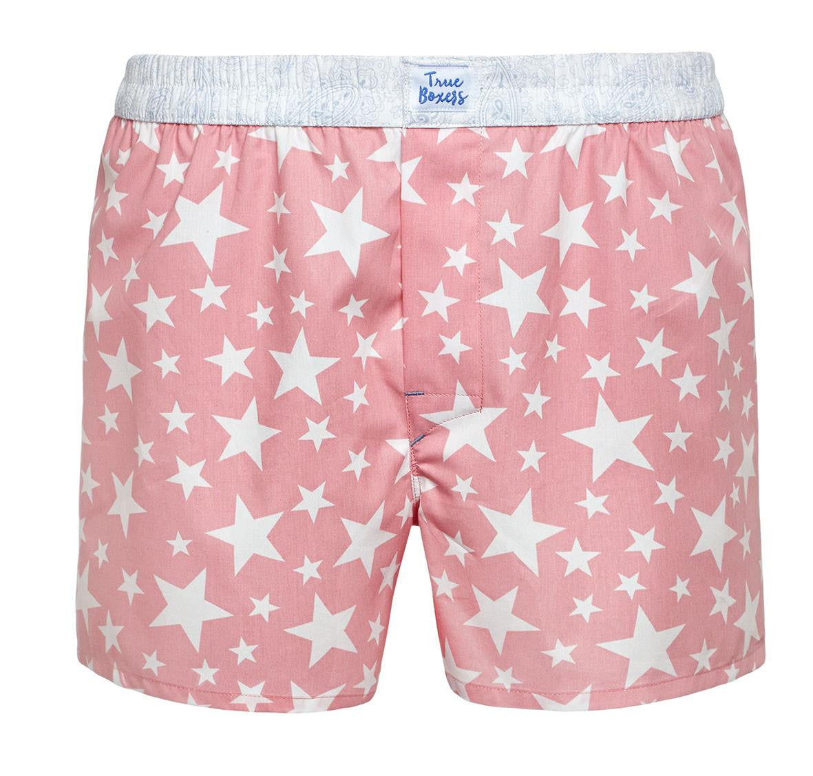 Smart Taste - pink stars with paisley Boxer Short - True Boxers