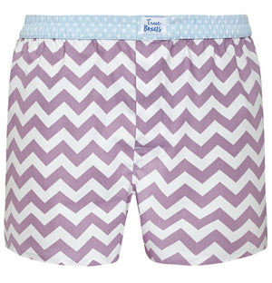 Metropolis - purple zig zag Boxer Short - True Boxers