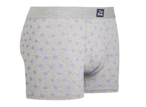 Donuts - grey brief with purple holes - True Boxers