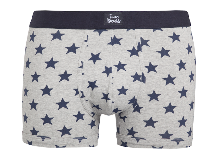 Muchacho - grey brief with blue stars - True Boxers