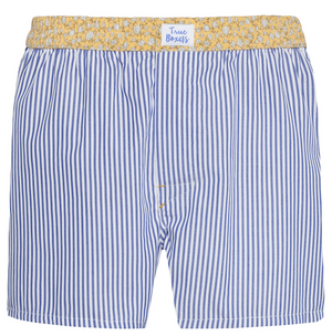 Sundance - blue stripes, yellow floral pattern Boxer Short - True Boxers