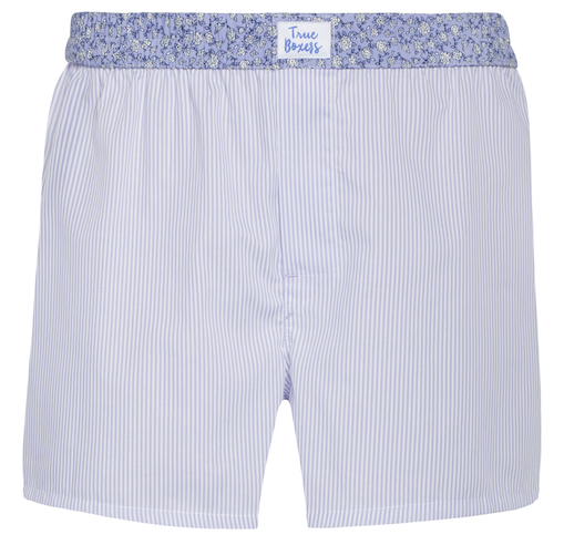 Friyay - purple floral stripes Boxer Short - True Boxers