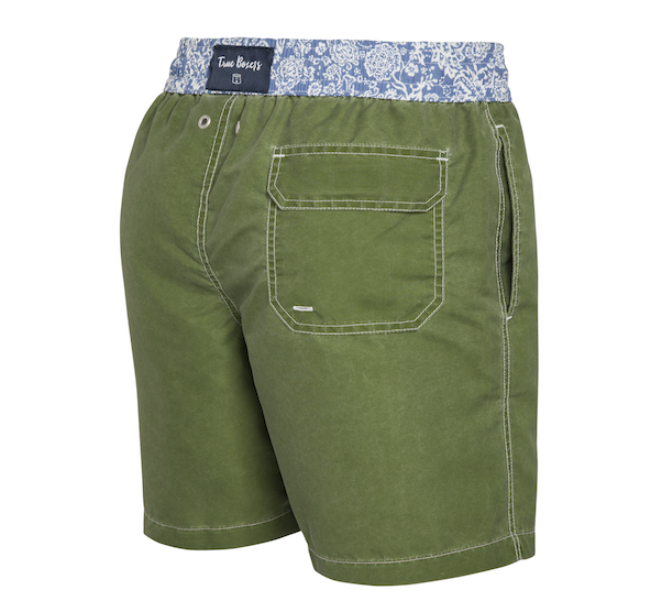 Jungle Fever - dark green with paisley Swim Short - True Boxers