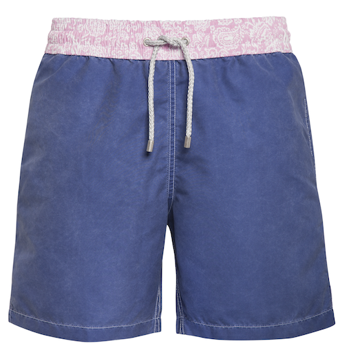 Into the Blue - Navy blue with paisley Swim Short - True Boxers