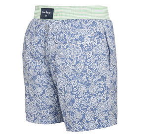 Coconut Island - blue paisley Swim Short - True Boxers