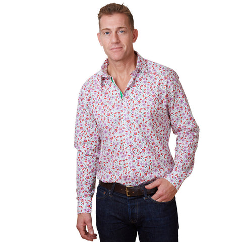floral shirt with wild flowers