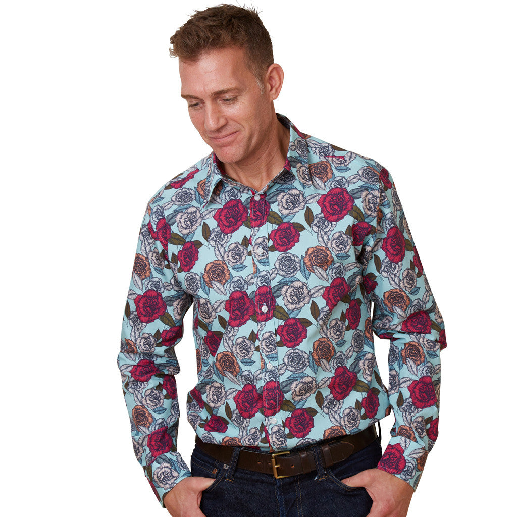 carnation floral shirt for men