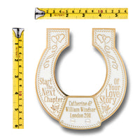Wedding Gift Custom Brass Lucky Horseshoe. Gift Idea For The Special Couple Or Bride From Parents, Mum, Dad, Son, Daughter, Groom Or Guest. Home Décor Ornament Or Hold Down The Aisle On The Big Day