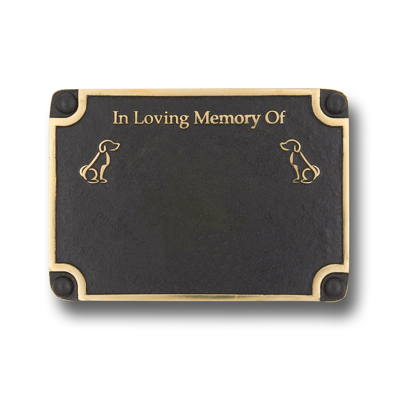 Personalised Memorial Dog Metal Plaque For Memory Of A Loved Companion. Wall Mounted Or With Garden Stake As Garden Stones Statue Gift Alternative Idea In Brass
