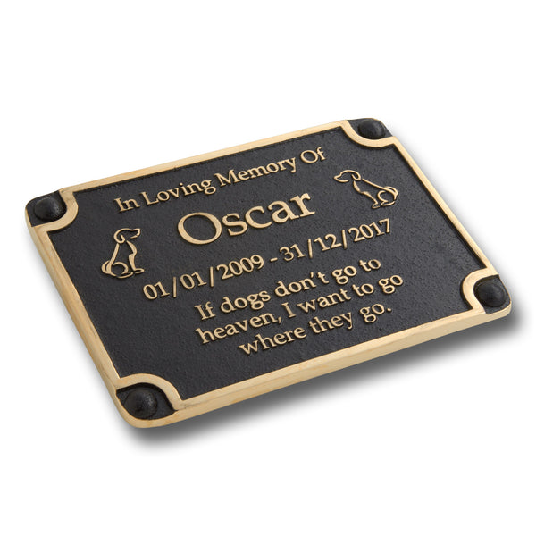 Personalised Memorial Dog Metal Plaque For Memory Of A