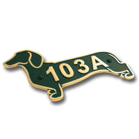 Dachshund Metal House Number Address Plaque. Sausage Dog Gift Idea For A Dachshund Owner. Yard Or Garden Dachshund Décor Makes A Great Gift For Him Or Her