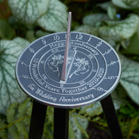 10th Tin Wedding Anniversary Sundial Gift