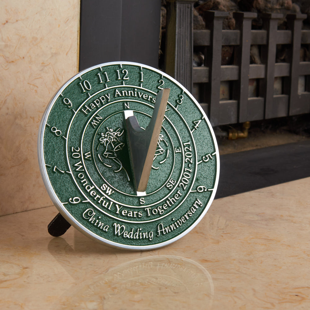 20th China Wedding Anniversary Sundial Gift