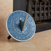 25th Silver Wedding Anniversary Sundial Gift
