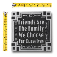 Art Deco Décor Wall Art Metal Plaque With Inspirational Quote 'Friendship'. Home Accessory Gift For Parents Or Friends, Him Or Her.