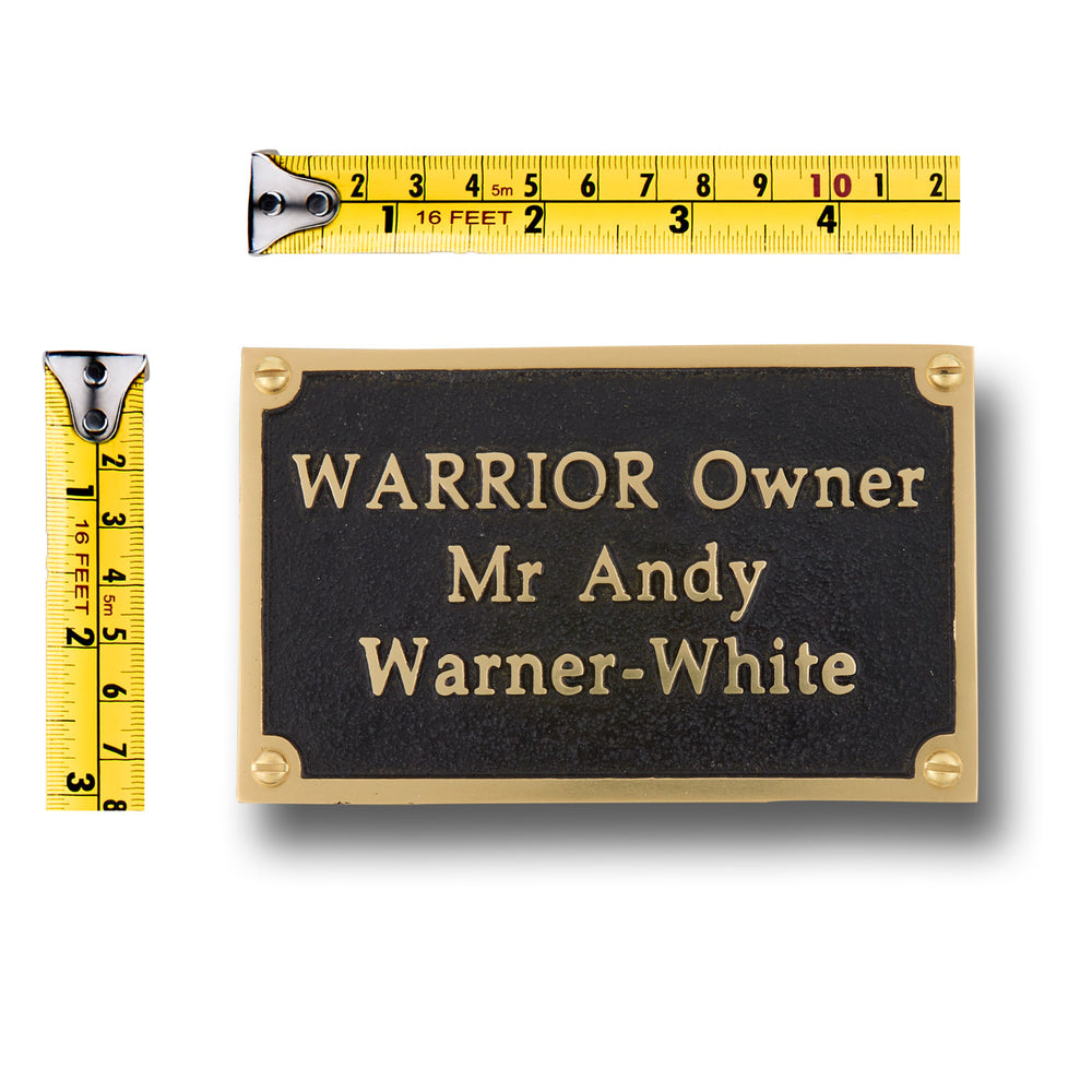 "Custom Brass Plaque Sign 5""x 3"" Personalised"