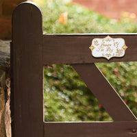 Vintage Shabby Chic Style Beware Of The Dog Door Sign.