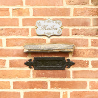 Vintage Shabby Chic Style Mind Your Head Door Sign.