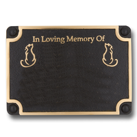 Personalised Memorial Cat Metal Plaque For Memory Of A Loved Companion. Wall Mounted Or With Garden Stake As Garden Stones Statue Gift Alternative Idea In Brass