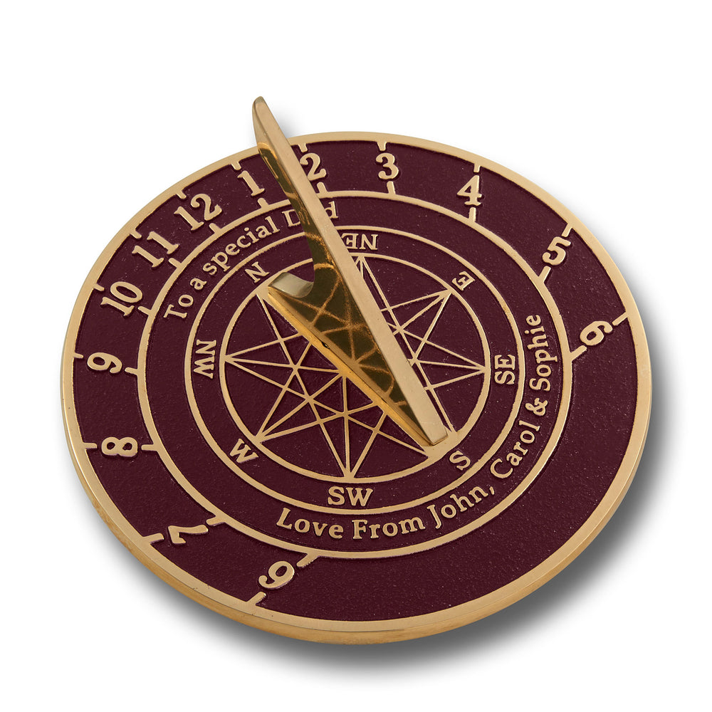 Custom Sundial With Star image. Handmade In England Just For You With Your Message